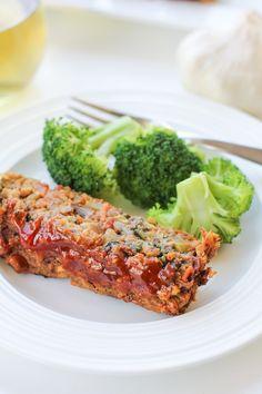 "Thai Lentil Vegan ""Meatloaf"" with Apricot Glaze - The Roasted Root Vegan Recipes Videos, Vegan Lunch Recipes, Vegetarian Entrees, Dinner Recipes, Healthy Recipes, Weeknight Recipes, Clean Recipes, Vegan Food, Drink Recipes"