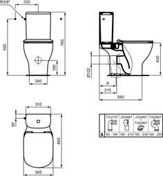 Pack wc sur pied Tesi Aquablade sortie horizontale abattant ultrafin frein de chute réf T033601