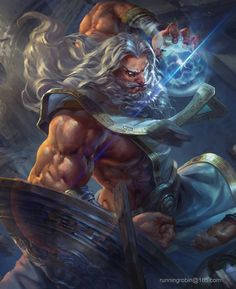 Zeus, Robin Ruan on ArtStation at https://www.artstation.com/artwork/318mY Yanni's father.