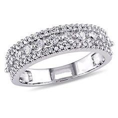 Diamore - Bague semi-éternité en diamant 1/2 ct en or blanc 14k | Sears Canada