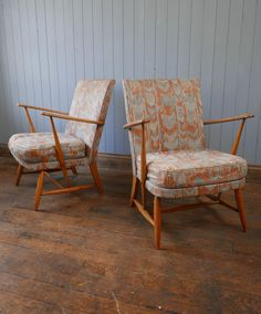 Vintage Pair Of Ercol Blonde Armchairs Mid Century Cocktail Chair CAN DELIVER