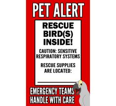 Rescue My Birds Stickers from Birdbrain Gifts $3.95
