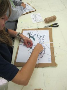 art: Wire sculpture tips & tricks... also a great blog from an art teacher!