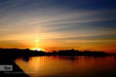 WHEN THE DAY IS OVER by garyco  beach blue light night ocean sea seascape sky summer sun sunrise sunset water WHEN THE DAY IS OVER g