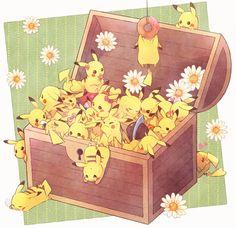 #Anime and Manga gnihihi, Pika♥ メガ(盛り)ピカチュウ | 南瓜とるて◆チャレ3【B5】 [pixiv] #pokemon