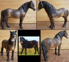 Schleich dartmoor stallion turned exmoor