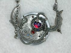 Custom Made STEAMPUNK Victorian Sci Fi Pendant Necklace