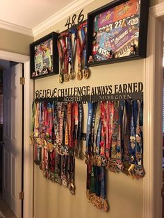 Really cool run disney medal display!                                                                                                                                                                                 More
