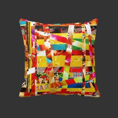 Kitty Bird's Nest Stripe Pillow $59.95 More to choose from at: http://www.zazzle.com/the1web*