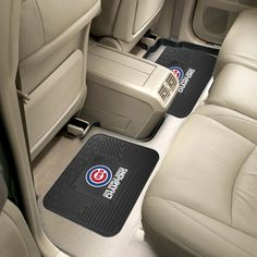 Chicago Cubs 2016 World Series Champions 2-piece Utility Mat - The Chicago Cubs have won the 2016 World Series! Boast your team colors with utility mats by Sports Licensing Solutions. High quality and durable rubber construction with your favorite team's logo permanently molded in the center. Non-skid backing ensures a rugged and safe product. Due to its versatile design utility mats can be used as automotive rear floor mats for cars, trucks, and SUVs, door mats, or workbench mats.Product…