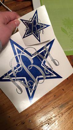 Dallas Cowboys Monogram Decal by RachelAnnsCreations on Etsy