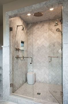 Phenomenal Bathroom Shower Tile Ideas, The tile ought to be installed around the shower space to make it stand out from different sections of the restroom. Phenomenal Bathroom Shower Tile I. Bathroom Renos, Bathroom Remodel Master, Bathroom Makeover, Stone Shower, Bathroom Tile Designs, Master Bath Shower, Luxury Bathroom, Bathroom Design, Bathroom Decor