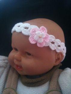 Cintillos para bebé tejidos a crochet - Imagui
