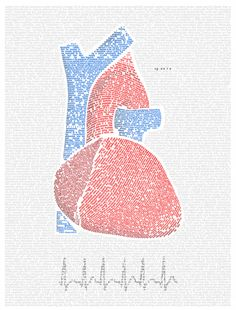 writing an anatomical heart