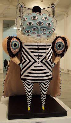 Cat johnston: the god of eyes mixed media sculpture, sculpture art, surrealism sculpture Mixed Media Sculpture, Sculpture Art, Surrealism Sculpture, Arte Fashion, Arte Obscura, Bizarre, Arte Horror, Wow Art, Paperclay