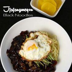 Jjajangmeyon Korean Black Bean Noodles Recipe and Video