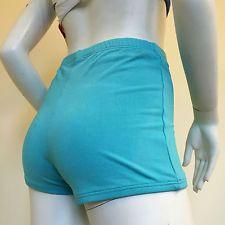 Felicity Ladies Blue Turquoise Stretchy Hot Pants Hotpants Shorts UK Size 10