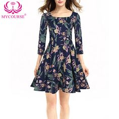 Find More Dresses Information about MYCOURSE Women Retro Dress Women Retro Rockabilly Dress Rose Printed Ball Gown Vestido Party Prom Big Swing Robe Woman Dresses,High Quality dress longer,China dress up dolls adult Suppliers, Cheap dress up girls dresses from Shop2163086 Store on Aliexpress.com