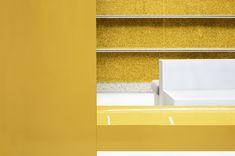 Long Bench, Led Tubes, Design Language, Brand Store, Display Shelves, Wood Veneer, Retail Design, Oslo
