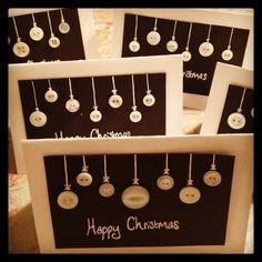 Handmade Button Christmas cards