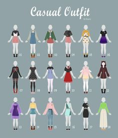 Open   Casual Outfit Adopts  By Rosariy Adopts