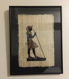 Vintage Hand Painted Egyptian Papyrus The Wood and by IsisJeweler