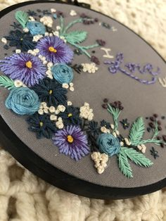 Love the mix of blues and purples on the Grey background. My design.  Instagram: @kim_broidery