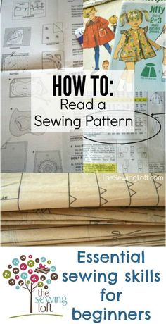 Learn how to read a sewing pattern with these easy steps. Each part is broken down into simple terms. Don't waste your time, your fabric or your patience by making a mistake with your pattern before you even start.  They can be confusing when you start out, so make sure to start out right when using a sewing pattern!  The Sewing Loft