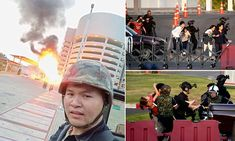 Berserk Thai soldier is holed up in shopping mall after killing 21 — Daily Mail Berserk, Korat, People Running, Open Fires, Police Officer, Shopping Mall, Rogues, Hanging Out, The Outsiders