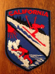 California Surf and Ski Vintage Travel Patch by by HeydayRetroMart, $10.00