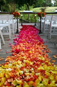 Ombre flower petals. OMG! I want to do this with leaves!!