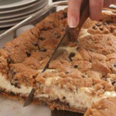 Chocolate Chip Cookie Cheesecake - Nothing healthy about this. mmm