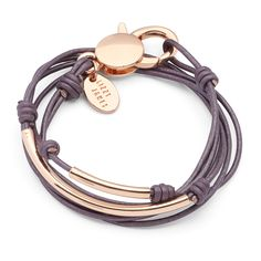 The Laurel is a double strand leather bracelet that comes adorned with delicate rose goldplate crescents. This wrap bracelet can also be worn as a necklace. Elegant style handcrafted in the USA. Diamond Bracelets, Stackable Bracelets, Gold Bangles, Fashion Bracelets, Hippie Bracelets, Hippie Jewelry, Ankle Bracelets, Bracelet Designs, Bracelet Patterns