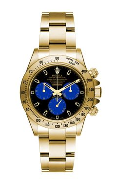 Matte Gold Daytona With Blue And Black Dial by Bamford for Preorder on Moda Operandi