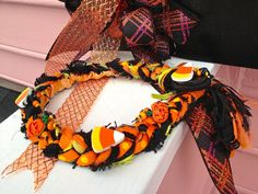 Halloween Necklace Candy Corn Necklace Fall Necklace by BSBoutique, $45.00