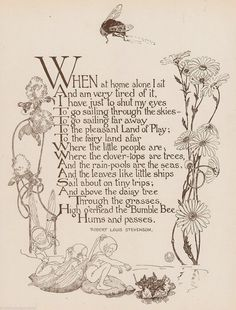 The Little Land Poem by Robert Louis Stevenson Antique Graphic Art Nursery Print Nursery Rhymes Poems, Fairy Quotes, Little Land, Pomes, Fairy Land, Fairy Dust, Old Movies, Nursery Prints, Poetry Quotes