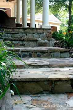 DIY Stone Steps- You can do it too! :: Hometalk possible, might be  too bitsy, needs a bit of a tweek perhaps