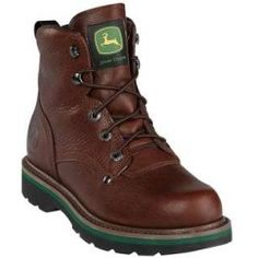 Review John Deere Work Boots Mens Leather Lacer 7 M Dark Walnut JD6193 price - Mens John Deere Work Boots: Bring it! a/in these menas lace up work boots from John Deere part of the Dan...