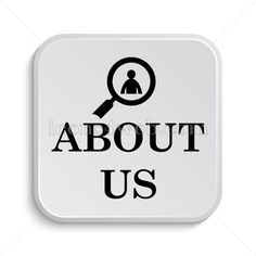 About us icon design. Icon designed in high resolution on white background. Stock illustration image for web design projects, social media page,
