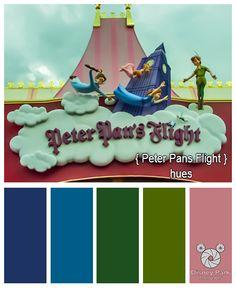 Disney Park Photography - Photo: Peter Pan's Flight Colors