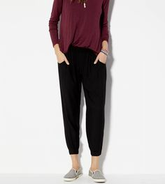 Black Soft Pant Made In Italy By AEO