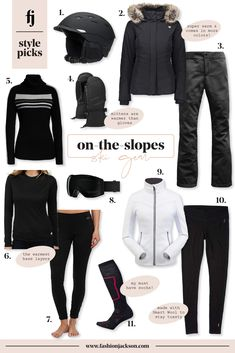 I often get asked what ski gloves, helmet, and ski suit I wear when we go skiing each winter. Rounding up the best ski gear like gloves & boots, and chic ski vacation outfits for apres-ski! Ski Vacation, Vacation Outfits, Ski Chalet, Ski Ski, Moda Ski, Mode Adidas, Cold Wear, Best Skis, Fashion Jackson
