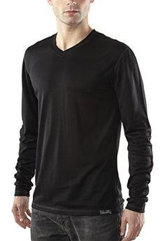 Woolly Clothing Co. Men's Merino Wool Long Sleeve V-Neck Medium Black Woolly Clothing Co http://www.amazon.com/dp/B00N8MZATI/ref=cm_sw_r_pi_dp_3BASwb1KWDVAG