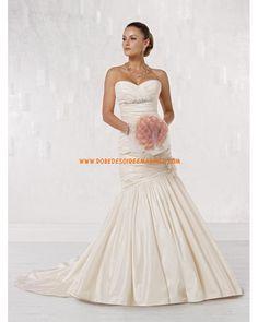Robe de mariée sirène en taffetas cristal fleur
