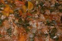 Sausage And Peppers Recipe With Spinach: http://www.tastygalaxy.com/cook/sausage-and-peppers-recipe-with-spinach/