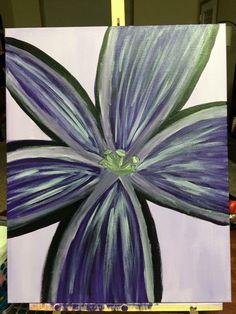 Purple Flower: Acrylics on Canvas