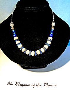 CONVERTIBLE Gemstone Jewelry - This is a necklace, anklet, and Bracelet- 3 in 1.  Made of a Connoisseur Collector's gemstone, KYANITE