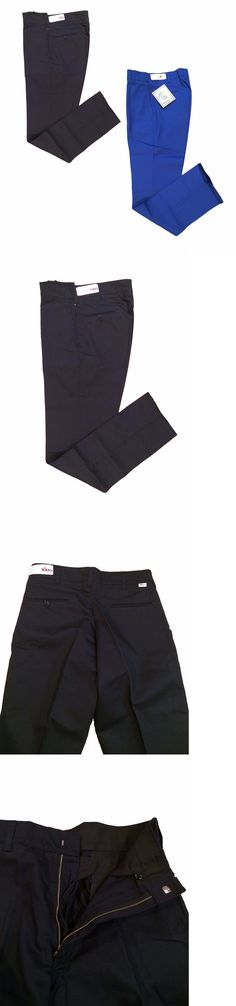 Pants and Shorts 163525: Indura Navy Pants Flame Resistant Fr Work Uniform Men S Hook Closure Pa26 -> BUY IT NOW ONLY: $40 on eBay!