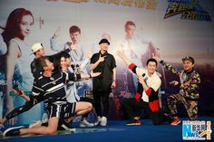 Cast from 'Running Man 2' attend press conference on April 11, 2015, in Guangzhou, Guandong http://www.chinaentertainmentnews.com/2015/04/angelababy-and-cast-from-running-man-2.html