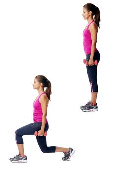Lunges Exercise For Lose Weight From Hips And Thighs